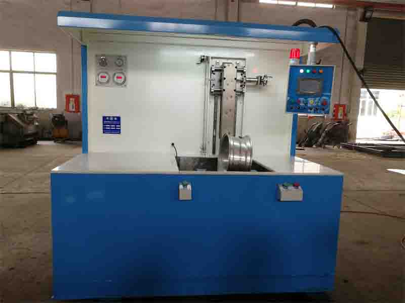 Horizontal leakage test machine